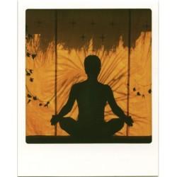 Position classique du yoga,...
