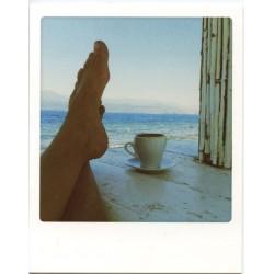 Café sur la terrasse