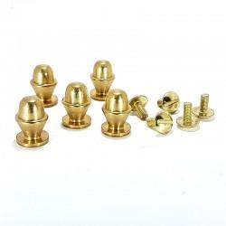 Bouton cylindre doré